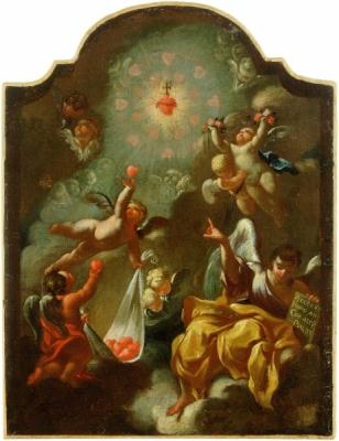 8a. Robert la Longa, Alegoria Serca Jezusowego, 1705.