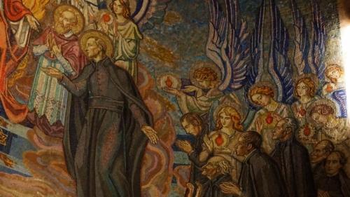 13a. Hołd wizytek i jezuitów Bożemu Sercu (fragment)